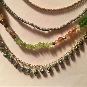 Nakamol layered crystal and stone necklace